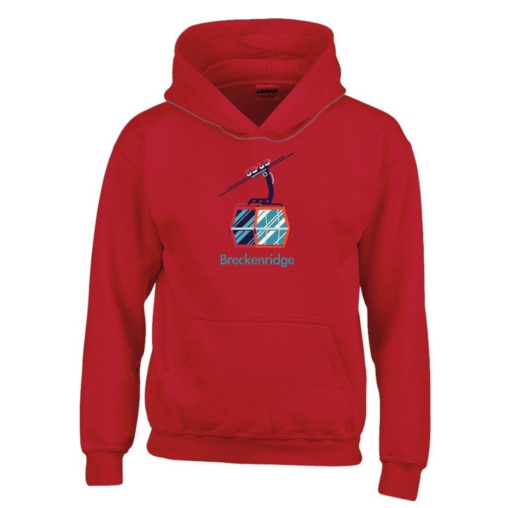 XS, Red Colorado Kids Sweatshirt Breckenridge Gondola Youth Hoodie