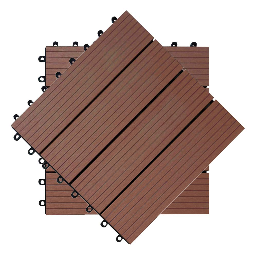 Hengmei 22x Terrassenfliesen Fur 2m Wpc 30x30cm Holz Optik