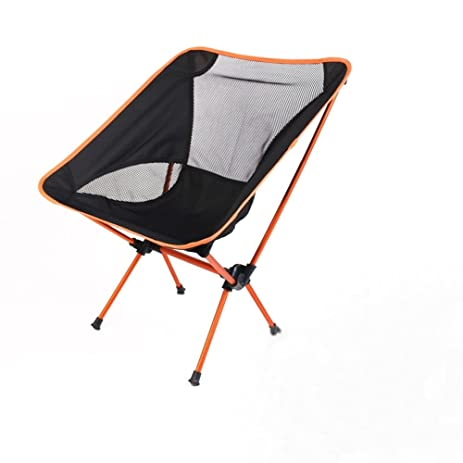 Aluminum Alloy Portable Folding Chairs, Outdoor Ultralight Moon Chairs  Heavy Duty 330lbs Capacity Perfect For