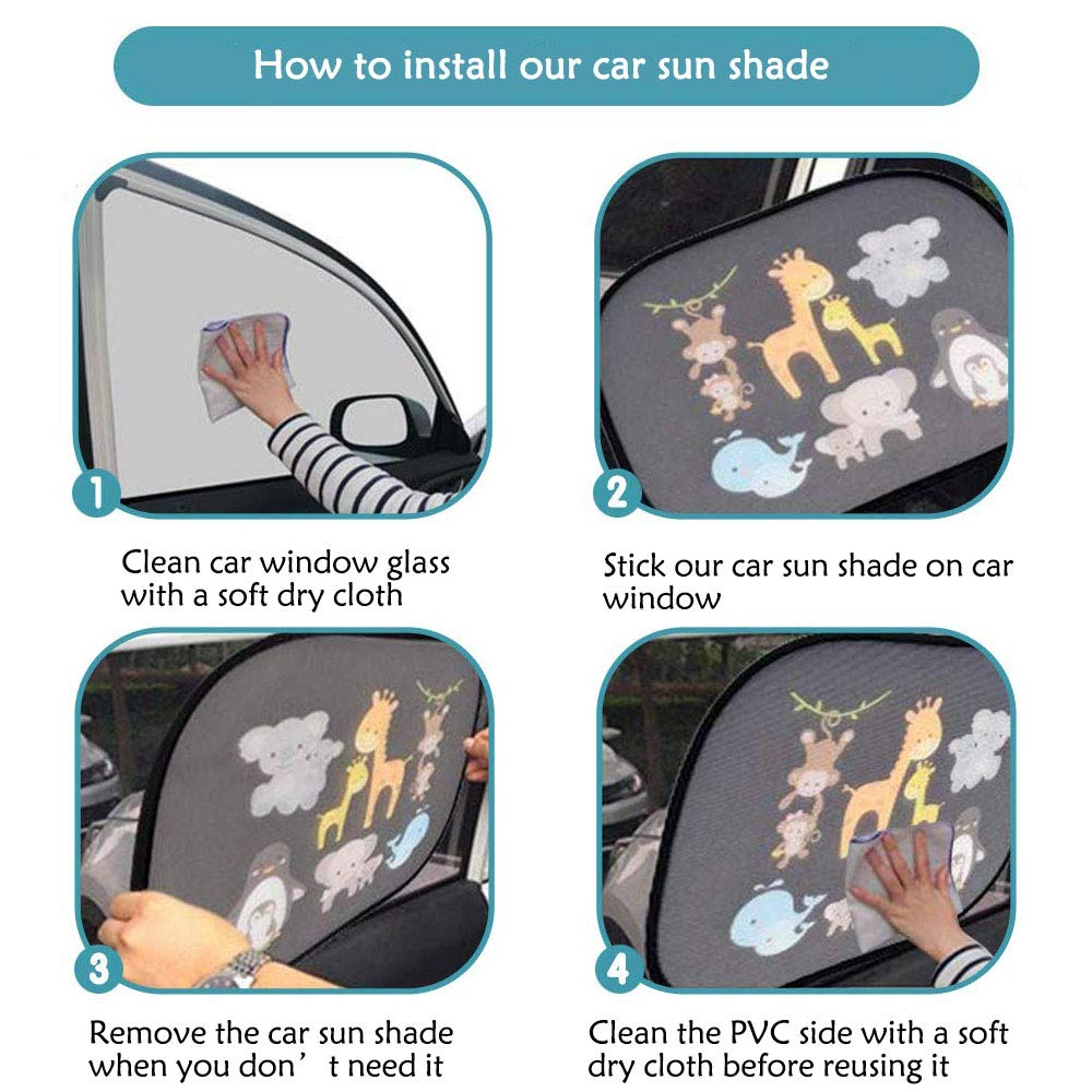 Marvelights Parasoles de Coche para Beb/é 2 Paquetes Persianas Cubre para Ni/ños Mascotas con Proteccion Contra Rayos UV Parasol Coche Protector para Ventana Trasera Trasera Lateral