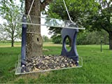 JC's Wildlife Nature Products USA Recycled Poly Lumber Hanging Birdfeeder (Blue) For Sale