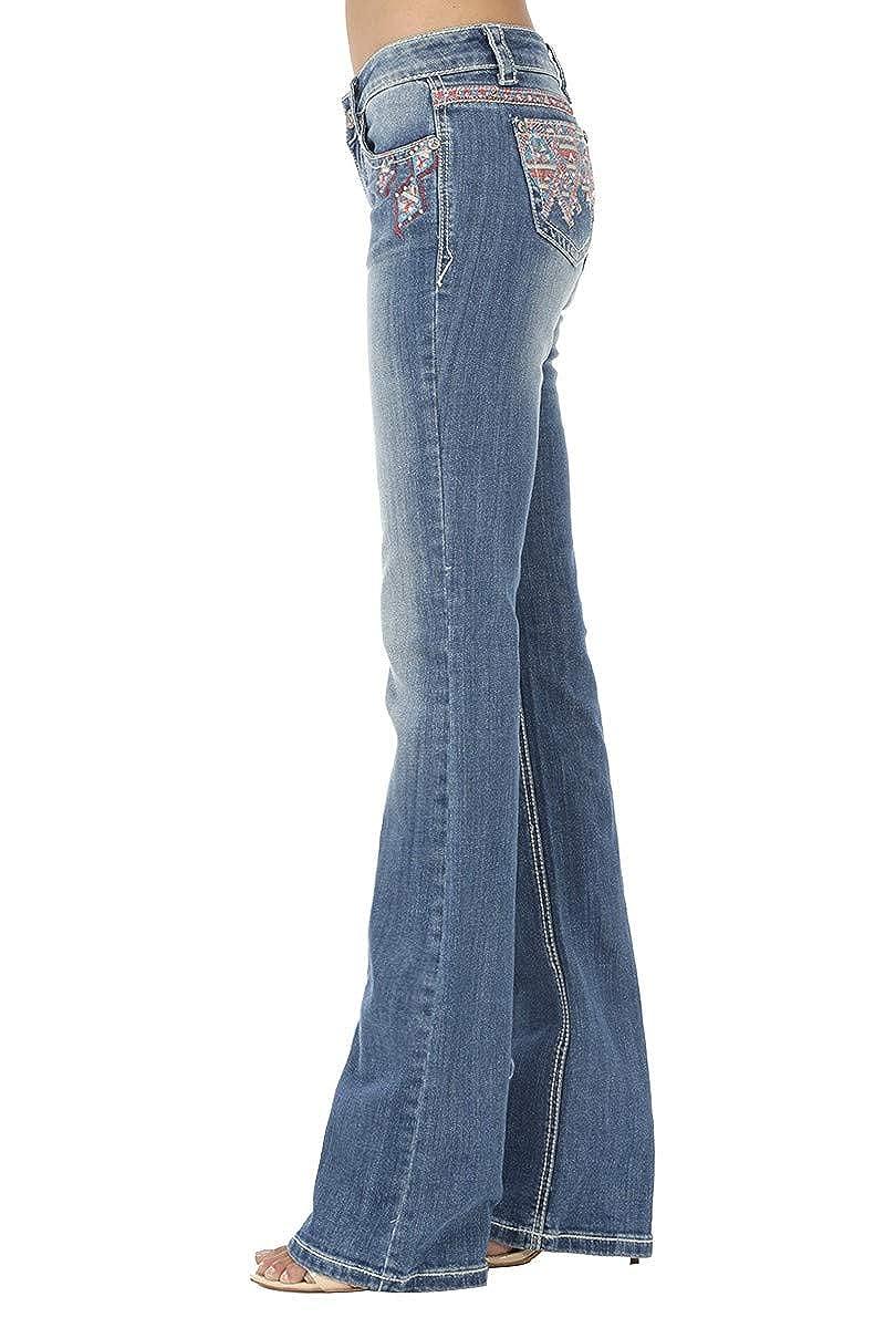 Amazon.com: BEBA - Pantalones vaqueros de mujer con corte de ...