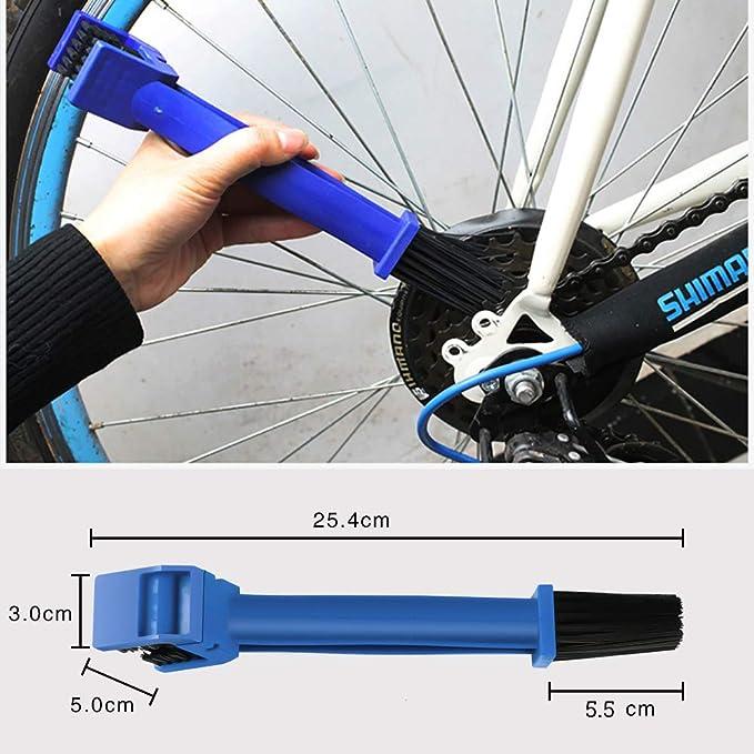 Ketten Reinigungsbürste Kettenbürste Sauberen Bürste Zur Reinigung Von Motorrad Fahrrad Oder Rollerketten Blau Auto