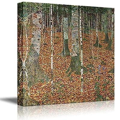 Birch Forest by Gustav Klimt - Austrian Symbolist Painter - Canvas Art Home Art - 16x16 inches