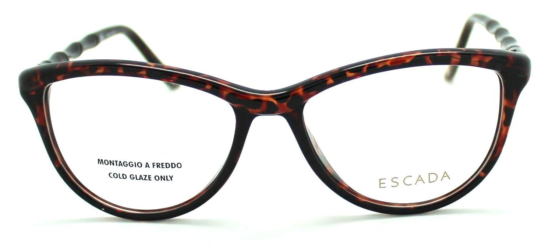 433084af773 New Escada Brown Cat Eye Frame Glasses Eyeglasses VES210M 53mm  Amazon.co.uk   Clothing