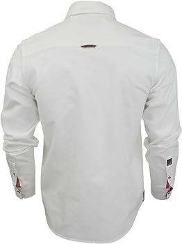 Camisa de manga larga de tela Oxford para hombres de Brave Soul blanco blanco (optic) Small: Amazon.es: Ropa y accesorios