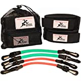 Speed Bands Leg Training Resistance band set for Running Power Agility Acceleration Muscle Endurance and Strength, Used by Antonio Brown, Yohan Blake, For Football, Track and Field and all Sports