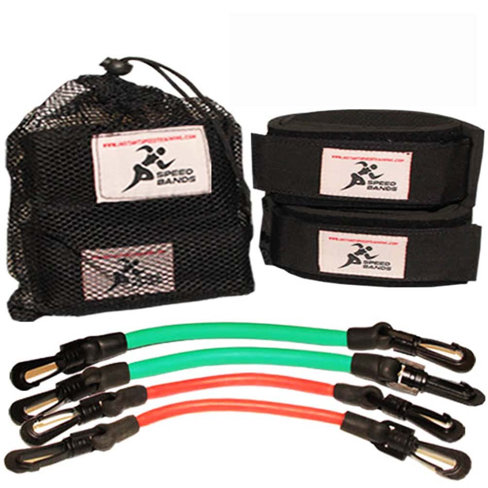 Speed Bands Leg Training Resistance band set for Running Power Agility Acceleration Muscle Endurance and Strength, Used by Antonio Brown, Yohan Blake - For Football, Track and Field and all Sports by Instant Speed Training Bands
