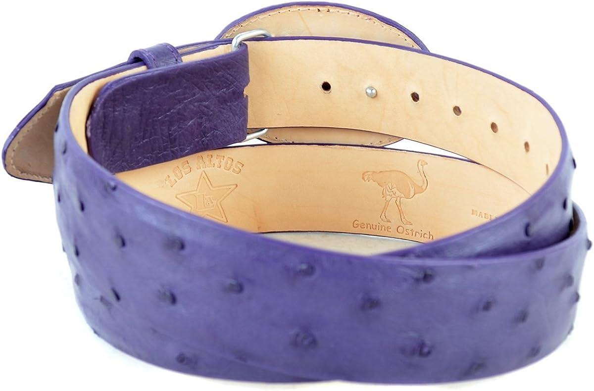 Original Purple Ostrich Skin Western Style Belt