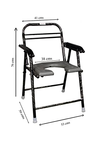 bedside heavy folding commode chair duty leika produit bariatric