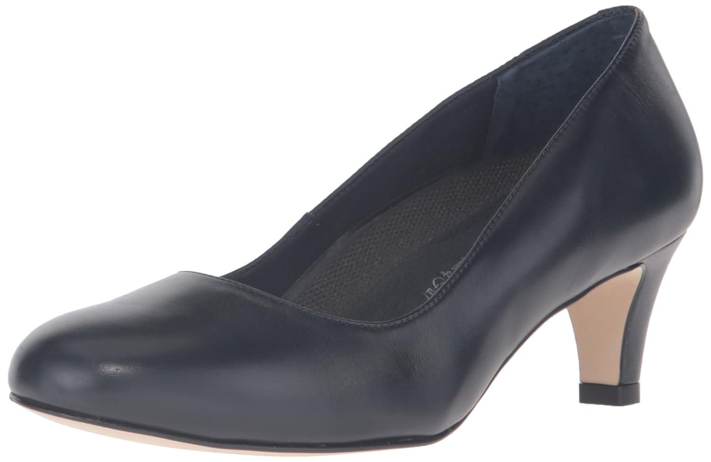 Navy Walking Cradles Women's Pleasure Cognac Roughout Leather clogs-and-mules 7 N