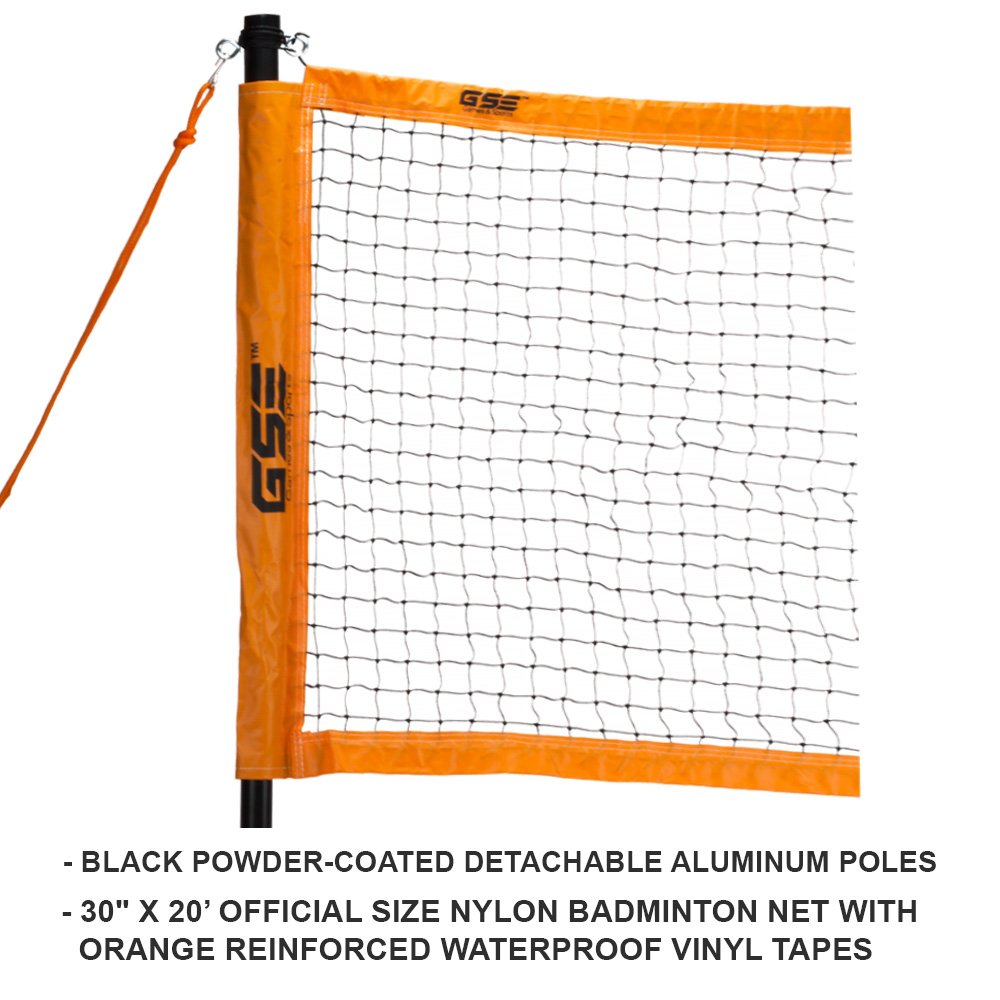 GSE Games & Sports Expert Professional Portable Badminton Set. Including Badminton Net System, 4 Badminton Racquets & 3 Nylon Shuttlecocks by GSE Games & Sports Expert (Image #2)