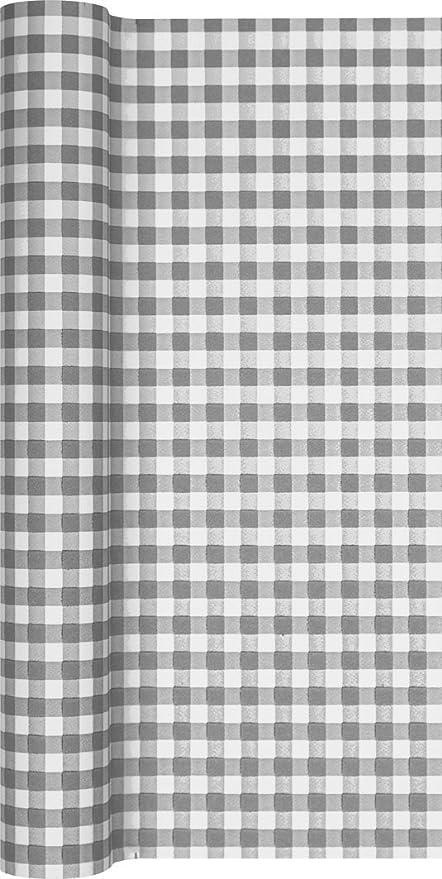Camino de mesa papel cuadriculado en gris - blanco/camino/camino ...