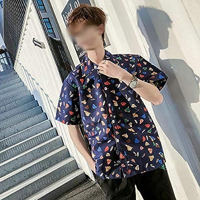 LFNANYI Camisas Casuales Hombres Camisa de Playa de Secado rápido Ropa Poliéster Camisa de Manga Corta Playa de Verano Floral para Hombre Camisa de Vestir L: Amazon.es: Deportes y aire libre