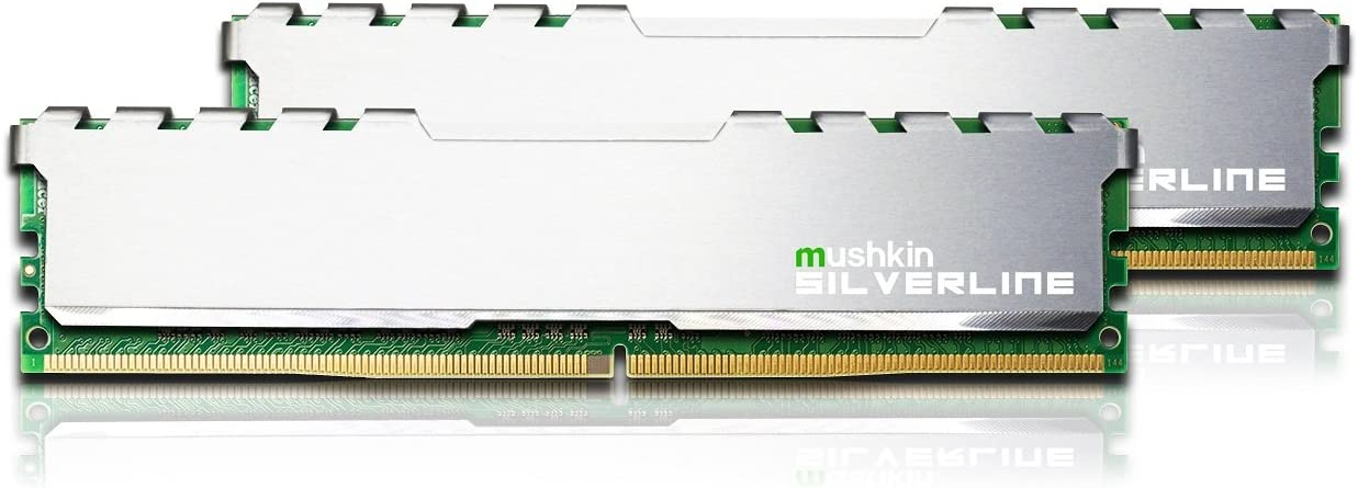 Mushkin SILVERLINE Series – DDR4 Desktop DRAM – 64GB (2x32GB) Memory Kit DIMM – 2666MHz (PC4-21300) CL-19 – 288-pin 1.2V RAM – Non-ECC – Dual-Channel – Stiletto V2 Silver Heatsink – (MSL4U266KF32GX2)