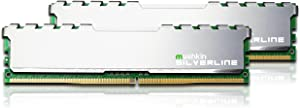 Mushkin SILVERLINE Series – DDR4 Desktop DRAM – 32GB (2x16GB) Memory Kit DIMM – 2133MHz (PC4-17000) CL-15 – 288-pin 1.2V RAM – Non-ECC – Dual-Channel – Stiletto V2 Silver Heatsink – (MSL4U213FF16GX2)
