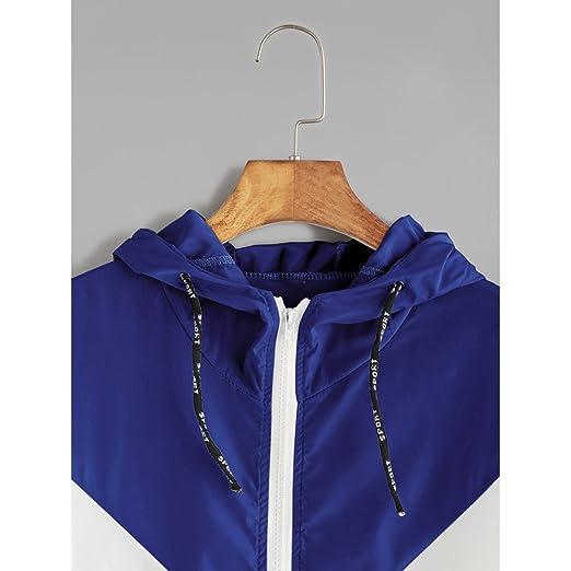 ❤ Abrigo con Capucha Patchwork,Trajes de Piel Fina de Patchwork de Manga Larga para Mujeres Bolsillos de Cremallera Sport Coat Absolute: Amazon.es: Ropa ...