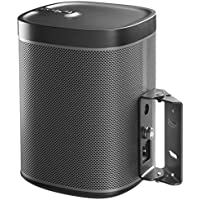 Cavus Surround Sound Tilt and Swivel Wall Mount - Wall bracket for Sonos Play1 - Black - SN1TB-2