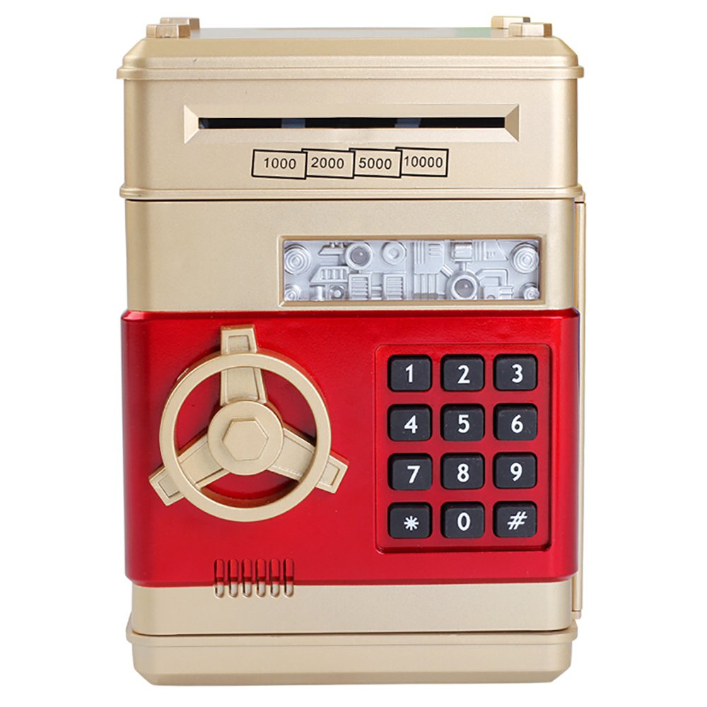 MyLifeUNIT Electronic Password Piggy Bank, Carton Money Saving Box for Kids with Lock (Gold) TB-PQJ2-8K5G