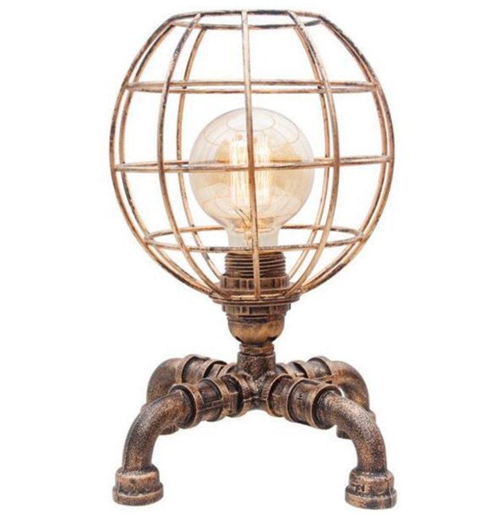 ARAYACY American Retro Schmiedeeisen Tischlampe Persönlichkeit Kreative Schreibtisch Studie Schlafzimmer Nachttischlampe