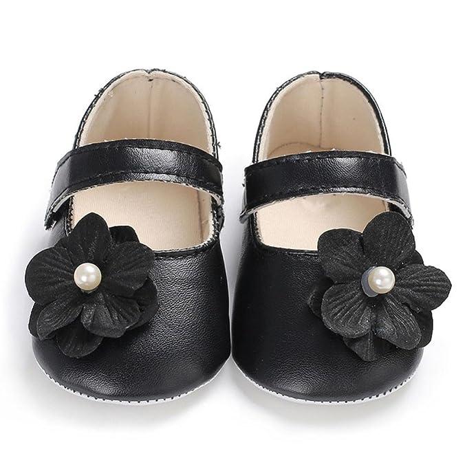 Amazon.com: wocachi bebé niñas zapatos flores, suela suave ...