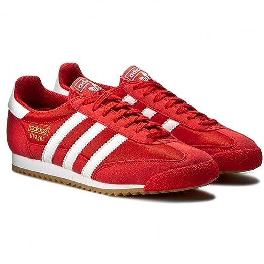 Adidas Originals Mens Dragon OG Fashion Sneakers Red (8.5)