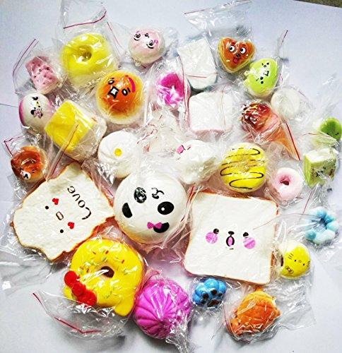 [18PCS Jumbo Medium Mini Squishy Bread Scented Panda Toast Donuts Cone Turtle] (Cute Slimer Costumes)