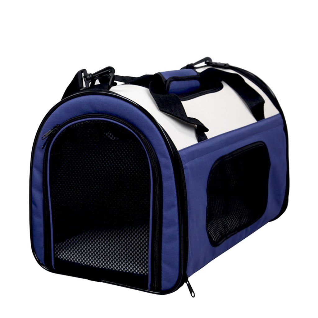 Blue M Blue M Pet Out Pack, Cat Pack, Dog Pack, Foleable, Dog Backpack, Teddy Out Dog Carrier, Cat Cage, Pet Supplies (Colore: Blue, Dimensione: M)