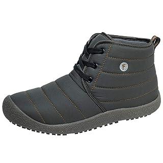 Elecenty Stivali da neve in cotone corto Stivaletti impermeabili da uomo in cotone Classiche Boots Uomo Invernali