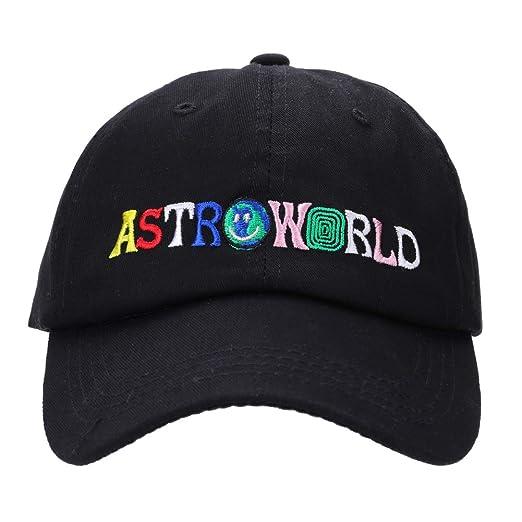 492bd54a Amazon.com: Detroital Unisex Astroworld Hat Travis Scott Adjustable  Baseball Cap Rapper Dad Hat(Black): Clothing