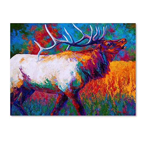 Chorus Elk by Marion Rose, 18x24-Inch Canvas Wall Art