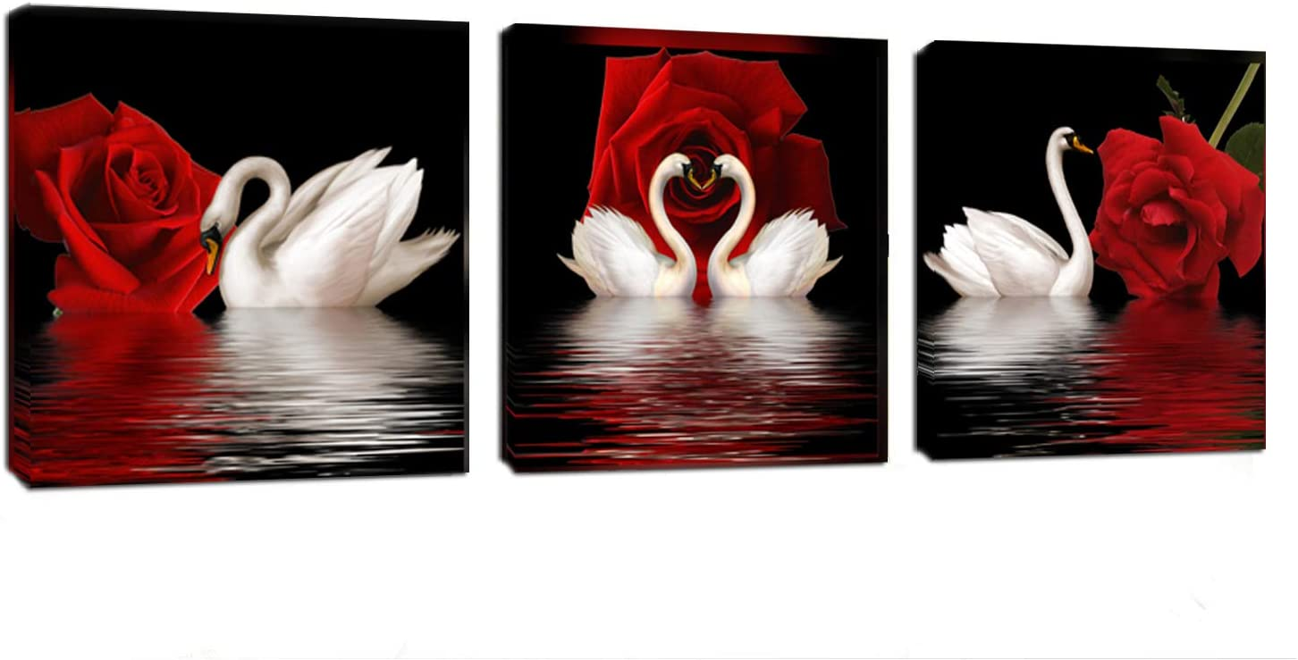 beautiful-swan-print-wall-decor-for-rooms