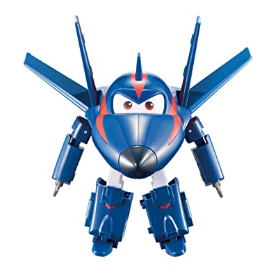 "Super Wings - Transforming Agent Chase Toy Figure | Plane | Bot | 5"" Scale: Toys & Games"