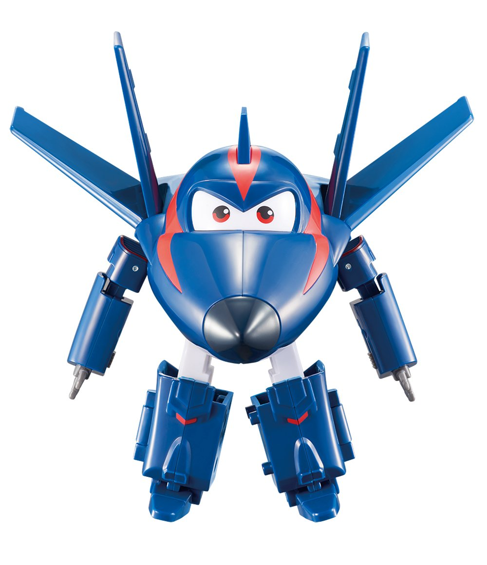 "Super Wings - Transforming Agent Chase Toy Figure | Plane | Bot | 5"" Scale Auldey (Domestic) US720223"