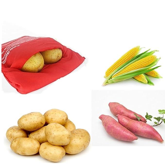 Amazon.com: fecihor 3 Pack de bolsa microondas Potato Cocina ...