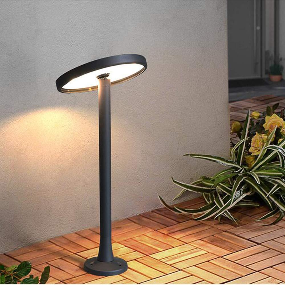 Lampada Da Terra rossoonda Regolabile LED Sabbia Nero 10W 3000K Altezza Piedistallo In Alluminio Altezza 55 Cm Impermeabile Terrazze Giardino IP65 Cortile Prato Giardino Parco Paletto Luminoso