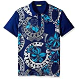 Versace Jeans Men's Printed Polo, Blue Di Chino, 52 (Large)