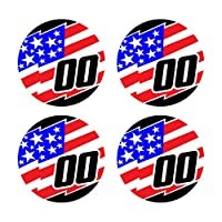 Custom Baseball Bat Decal Set - Jagged USA American Flag Design Bat Knob Sticker