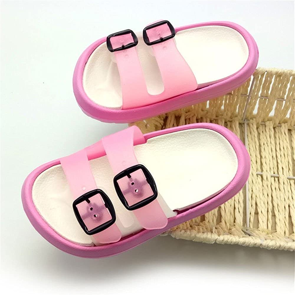 Yiomxhi Toddler Little Kids Walking Slippers Summer Sandals Non-Slip Shower Shoes Lightweight Beach Slippers for Boys and Girls Toddler 7.5-8.5M, Pink