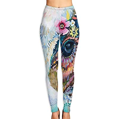 ANTOUZHE Pantalones de Yoga Colorful Cow Printed Yoga Pants for Women Running Workout Yoga Capris Pants Leggings Graphic Running Clothing: Ropa y accesorios