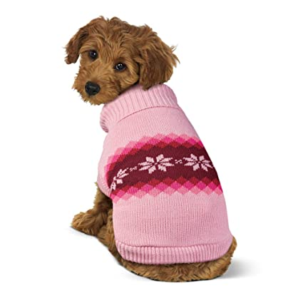 8e29a2d22b58 Amazon.com   Collections Etc Snowflake Patterned Winter Dog Sweater ...