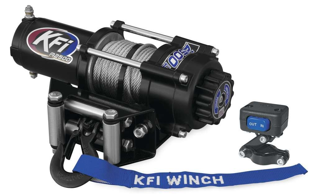 New KFI 2500 lb Winch & Model Specific Mounting Bracket - 1997-1999 Polaris Sport 400 2x4 ATV