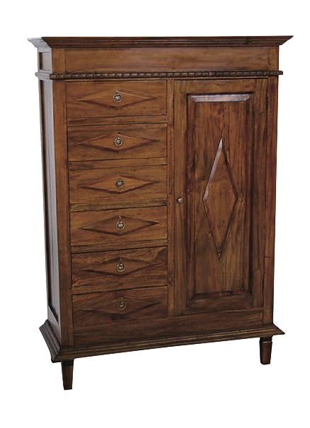 Nes Furniture Nes Fine Handcrafted Furniture Solid Teak Wood Alberta Wardrobe Armoire 55