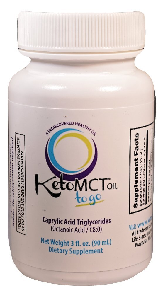 KetoMCT C8 Caprylic Acid MCT oil, 3 oz Travel Size, Manufactured in USA, The Most Potent on the Market