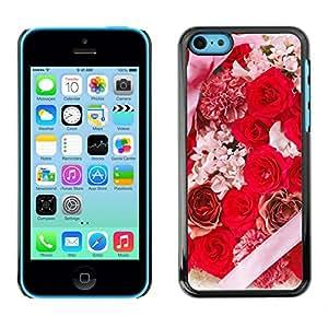 Rose Envuelto regalos de boda - Metal de aluminio y de plástico duro Caja del teléfono - Negro - iPhone 5C