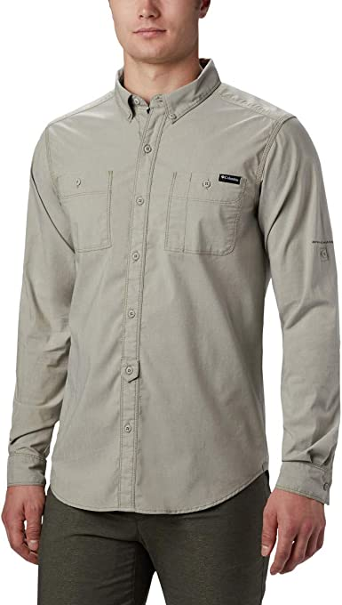 Columbia Outdoor Elements Long Sleeve Shirt Chambray Shirt Outdoor ElementsTM LS Chambray Camisa Hombre