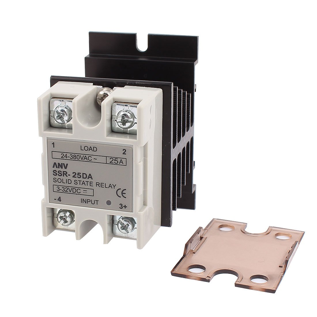 A15111100ux0289 Ssr 25da Solid State Relay Dc Ac 25a 3 32v 24 Reprap 380v Heat Sink Business Industry Science