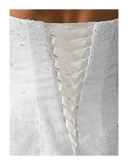 7cd9d8fdc0 Amazon.com  Wedding Gown Replace Zipper Adjust Size Corset Lace-up Ivory  16
