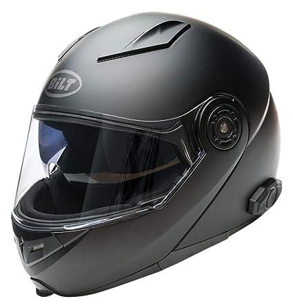 69eb2a6d Amazon.com: Bilt Techno 2.0 Sena Bluetooth Modular Helmet - 2XL - Matte  Black: Automotive