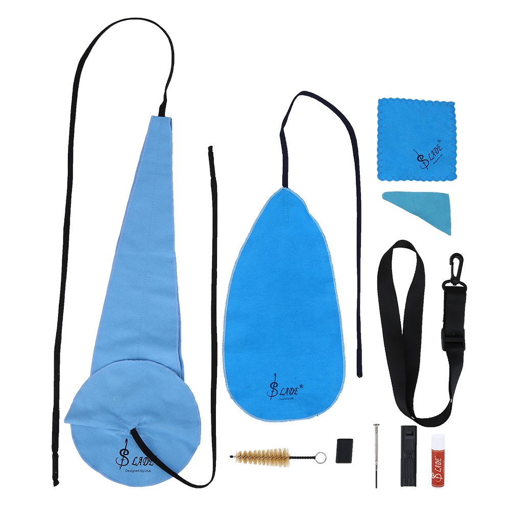 Alomejor Saxophone Wind Instruments Cleaning Kit, Mouthpiece Brush Belt Mini Screwdriver Cleaning Cloth Set Maintenance Tool